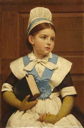 Charity School Girl, 1882 (George Dunlop Leslie) (1835-1921) City of Westminster Archives Center, London
