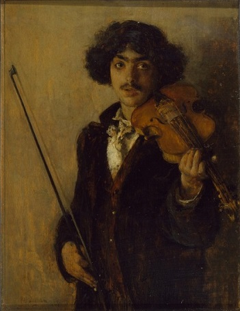 Musician, 1884 (Pascal Dagnan-Bouveret) (1852-1929)  Walters Art Museum, Baltimore, MD,  37.28