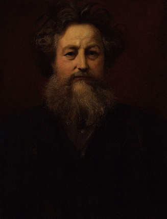 William Morris, ca. 1885 (Sir William Blake Richmond) (1842-1921)  National Portrait Gallery, London,  NPG 1938