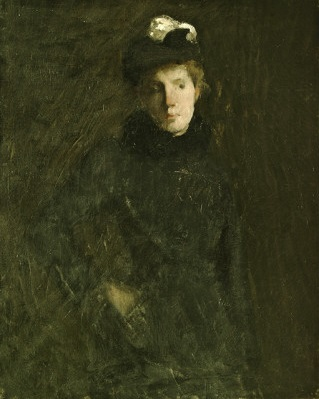 A Young Woman, ca. 1880 (Julian Alden Weir) (1852-1919)  Brigham Young Museum of Art, Provo, UT,  824000027