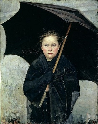 "A Girl, ""The Umbrella"" 1883 (Marie Bashkirtseff) (1858-1884)  The State Russian Museum, St. Petersburg"