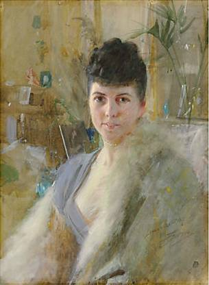 A Lady, possibly Mrs. Black or Mrs. Turner, Oct. 21 1887 (Anders Zorn) (1860-1920) Christie's Sale 2547 Lot 50