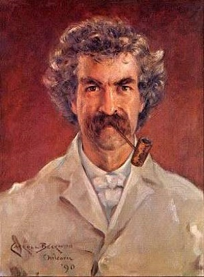 Mark Twain (Samuel Clemens), 1890 (James Carroll Beckwith) (1852-1917)  Location TBD