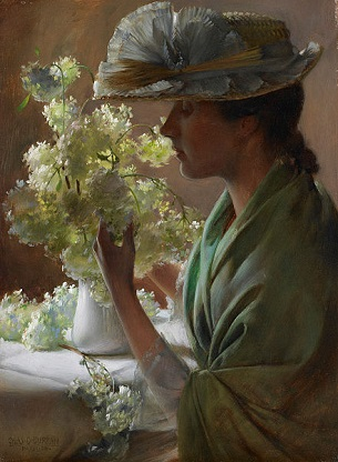 The Artist's Wife, 1890 (Charles Courtney Curran) (1861-1942) Birmingham Museum of Art, AL
