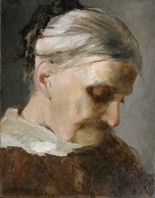 A Woman, 1890 (Abbot H. Thayer) (1849-1921) Brigham Young University Museum of Art, Provo, UT, 830010500