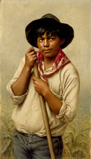A Young Man, 1895 (Grace Hudson) (1865-1927) Los Angeles County Museum of Art, CA, 75.4.8