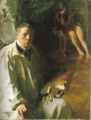 Self-Portrait, ca. 1897 (Anders Zorn) (1860-1920) Nationalmuseum, Stockholm