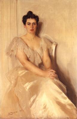 Frances Cleveland, ca. 1899 (Anders Zorn) (1860-1920) Location TBD