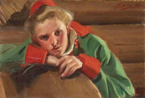 Girl from Mora, 1904 (Anders Zorn) (1860-1920) Location TBD