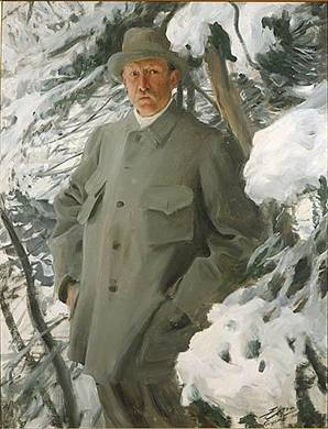 Bruno Liljefors, ca. 1906  (Anders Zorn) (1860-1920)   Location TBD