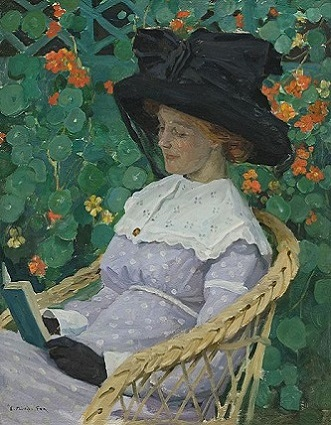 A Woman Reading, 1912 (E. Phillips Fox) (1865-1915)   Location TBD