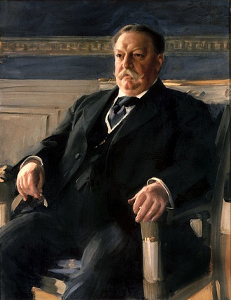 William Howard Taft, 27th President of the U.S., 1911 (Anders Zorn) (1860-1911)  White House Collection,  Washington D.C.