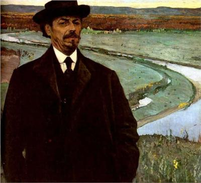 Self-Portrait, ca. 1915 (Mikhail Nesterov) (1862-1942)   Location TBD