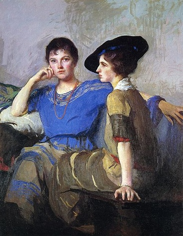 Two Sisters, 1921 (Edmund Tarbell) (1862-1938) Gibbes Museum of Art, Charleston, SC