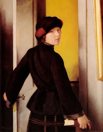 A Young Woman, 1921 (William McGregor Paxton) (1869-1941) Location TBD