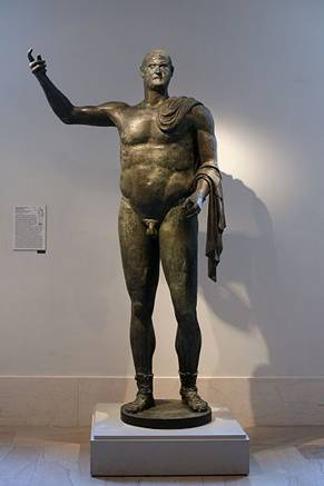 "Trebonianus Gallus,Roman Emperor, reigned 251-253,  The Metropolitan Museum of Art, New York, NY    ""only full size bronze from 3rd century"""