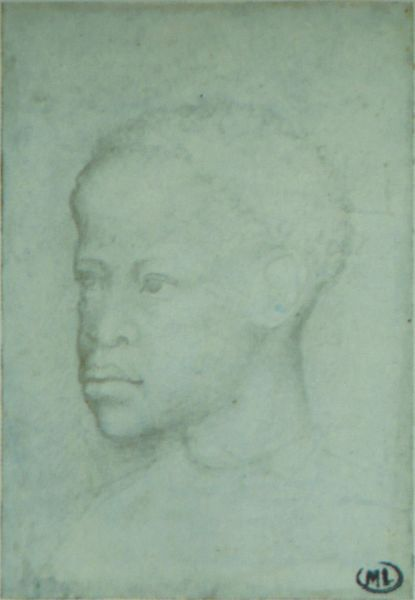 A Young African Man, ca. 1450 by Pisanello (ca. 1395-ca. 1455)  Codex Vallardi 2324 Musee du Louvre Paris