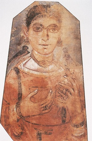 A Woman, Antinoopolis, AD 250-300 (Houston, TX, Menil Collection)