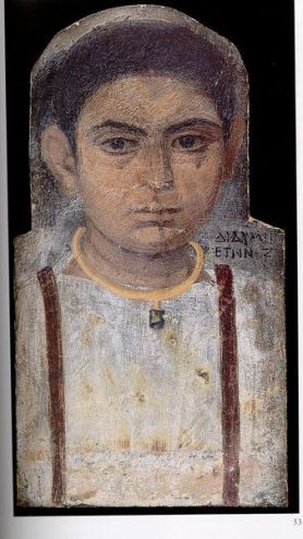 A Boy, Antinoopolis, AD 130-150 (Cambridge, Fitzwilliam Museum, E 5.1981)