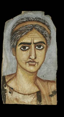 A  Woman, er Rubayat, AD 300-325 (London, British Museum, GRA 1890.9-20.1)
