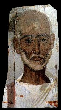 An Old Man, Fayum, ca AD 250 (Cairo, Egyptian Museum, CG 33249)