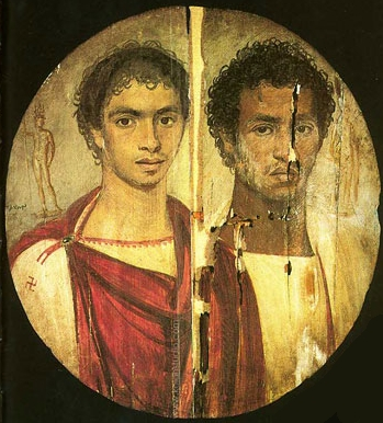 Two Young Men, Antinoopolis, AD 120-140 (Cairo, Egyptian Museum, CG 33267)